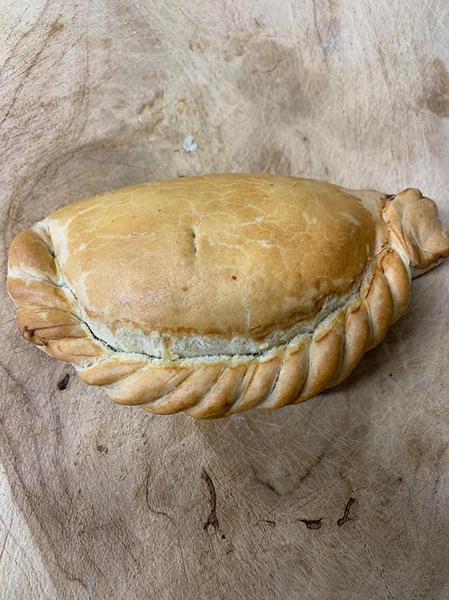 Frozen cheese and onion pasty