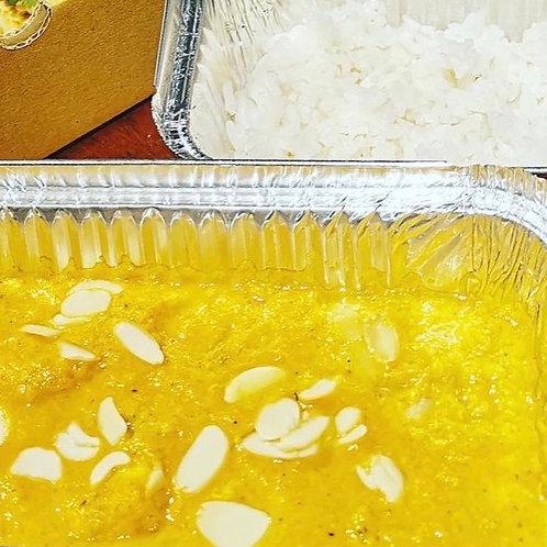 Frozen chicken korma with rice - serves 1