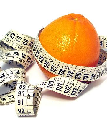 Sinasappel met centimeter