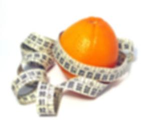 Nutrição laranja fita métrica