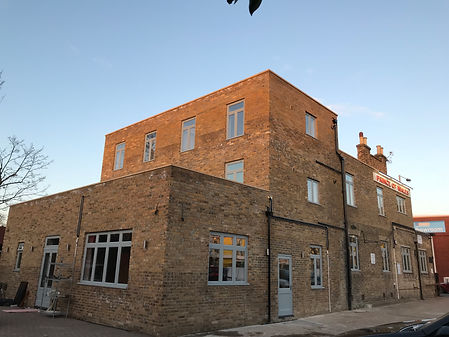 140m2 commercial extension with 2 new build apartments & 2 fully refurbished apartments