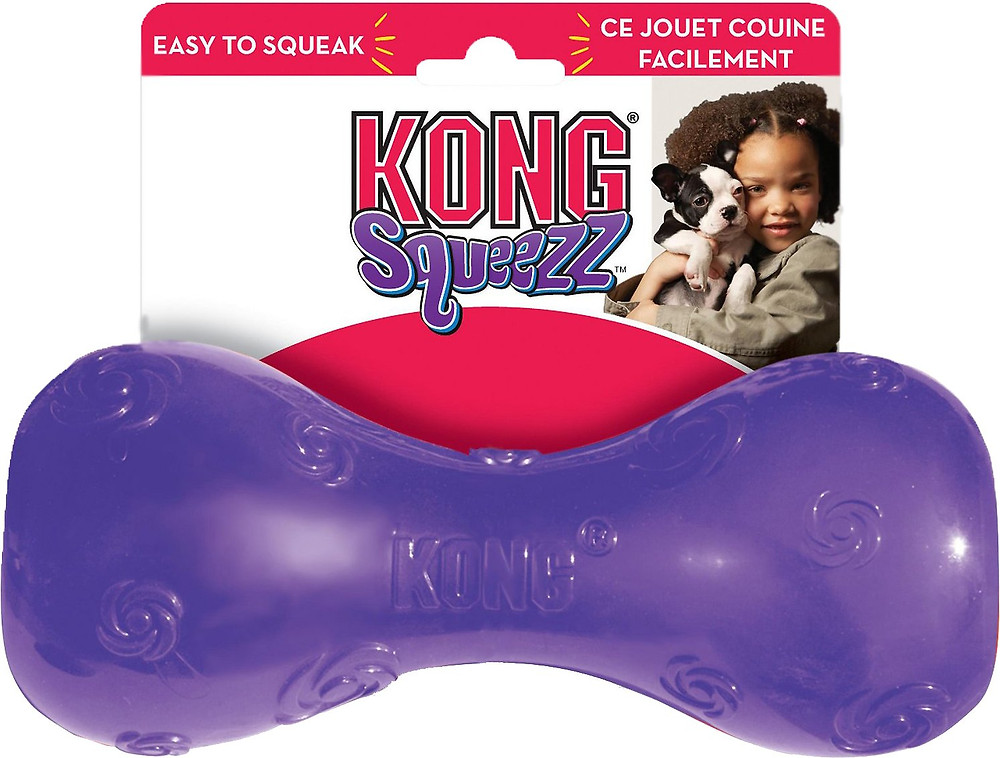 Dog toy squeaky Kong Squeezz Toy