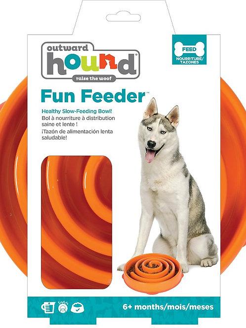 OUTWARD HOUND Fun Feeder Bowl (Orange)