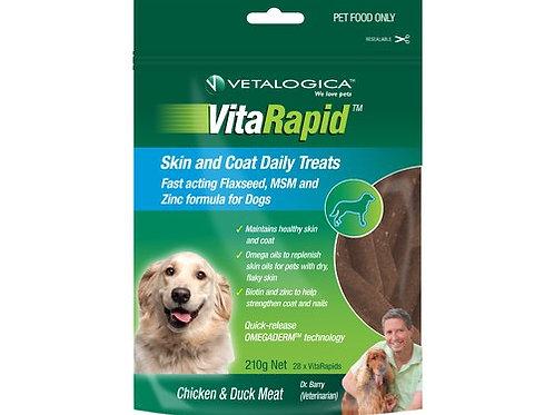 VETALOGICA Vitarapid Skin and Coat Daily Treats 210g