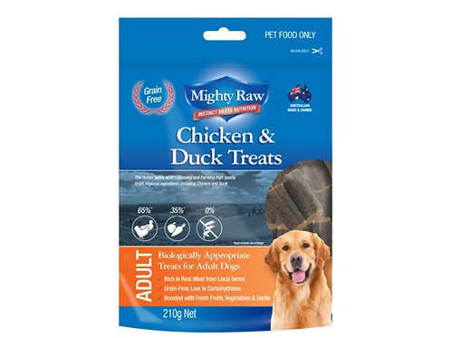 MIGHTY RAW Chicken and Duck Treats 210g