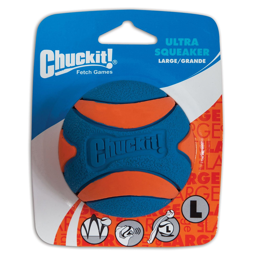 Squeaky Dog Toy Chuckit Ultra Squeaker Ball