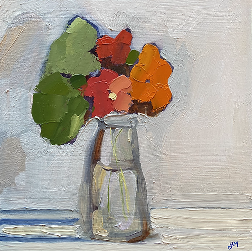 December 6- Three Nasturtiums