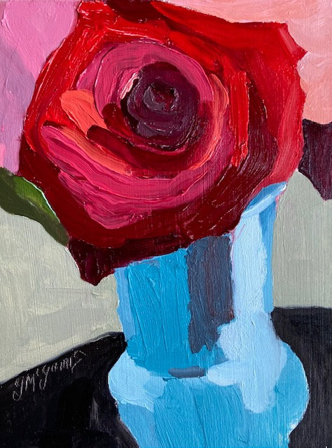 The Lipstick Rose/ SOLD