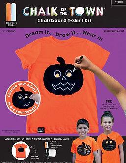 Halloween Pumpkin Chalkboard T-Shirt Kit w/ 2 Markers (Youth)