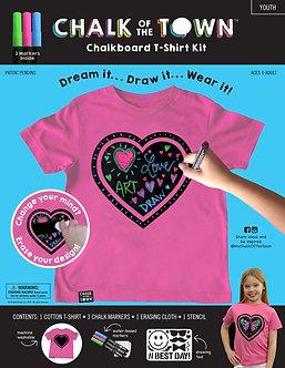 Pink Chalkboard T-shirt Kit