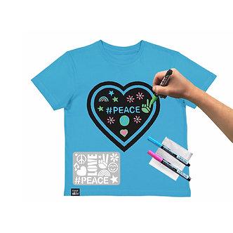 Aqua Blue Heart T-shirt