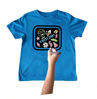 Blue Chalkboard Speech Bubble T-Shirt