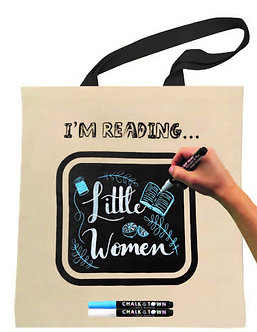 I'M READING Chalkboard Tote Kit w/ 2 Markers