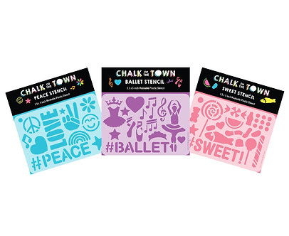 Stencil 3 Pack Chalk of the Town Sweet Peace Ballet