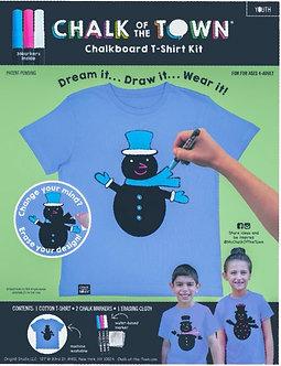 Snowman Short Sleeve Chalkboard T-Shirt Kit w/3 Markers