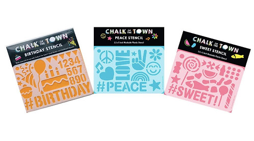 Stencil 3 Pack: Birthday, Sweet, & Peace