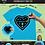 Thumbnail: Aqua Heart Short Sleeve T-Shirt  Kit w/3 Markers