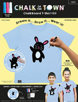 Bunny Rabbit Chalkboard T-Shirt Kit w/3 Markers (Youth)
