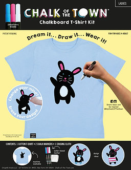 Chalk of the Town Bunny Chalkboard T-Shirt Kit