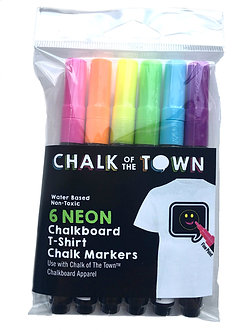Chalk of the Town Chalk Markers 6 Pack Front View