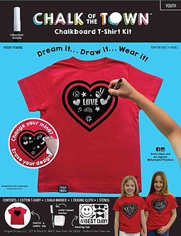 Red Heart Short Sleeve T-Shirt Kit w/1 Marker (Youth)