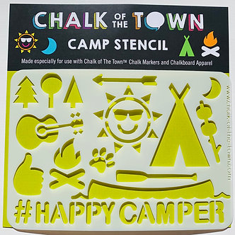 Happy Camper Stencil