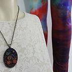 Art on Piper Galaxy leggings by Kathryn