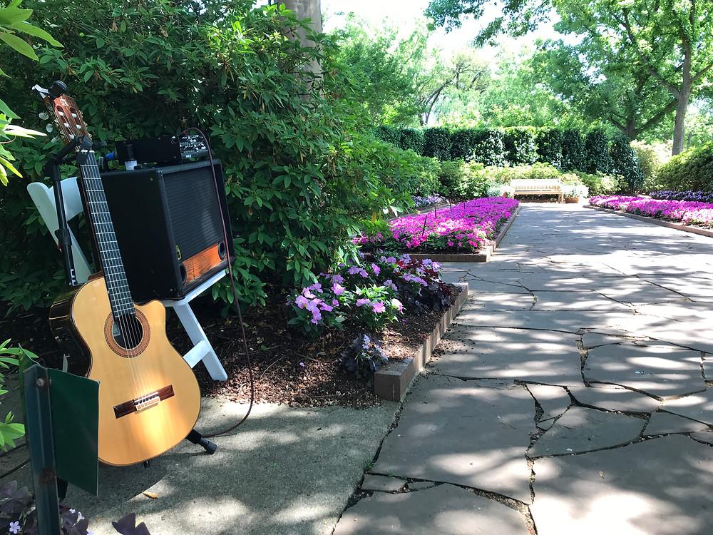 Classical guitar Dallas Arboretum ceremony music