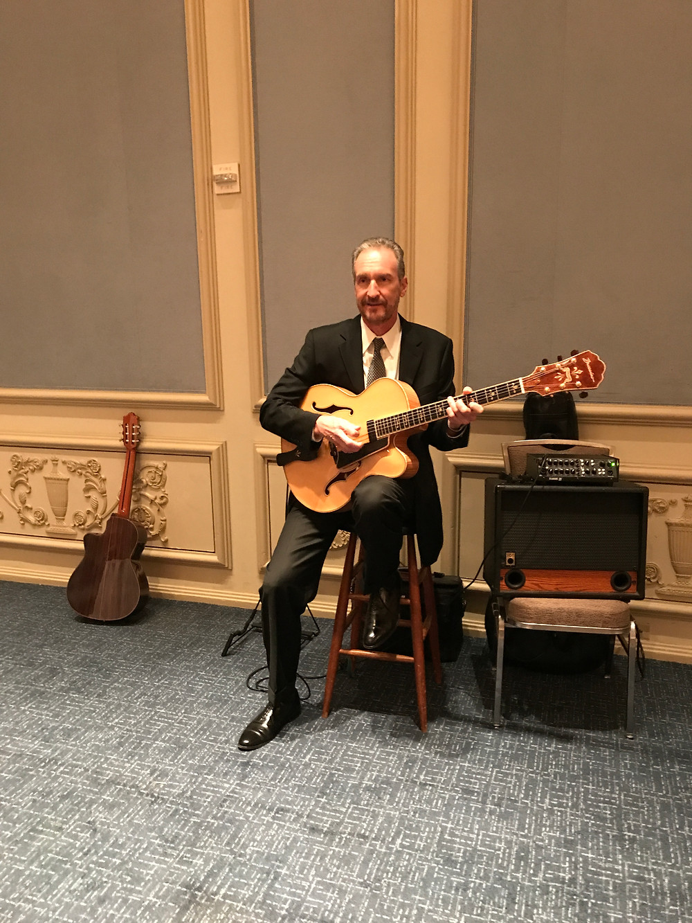 Guitar music for reception in the Wedgwood Room