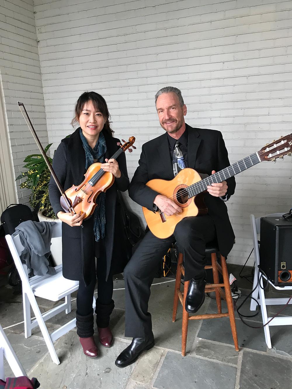 guitar and violin for wedding