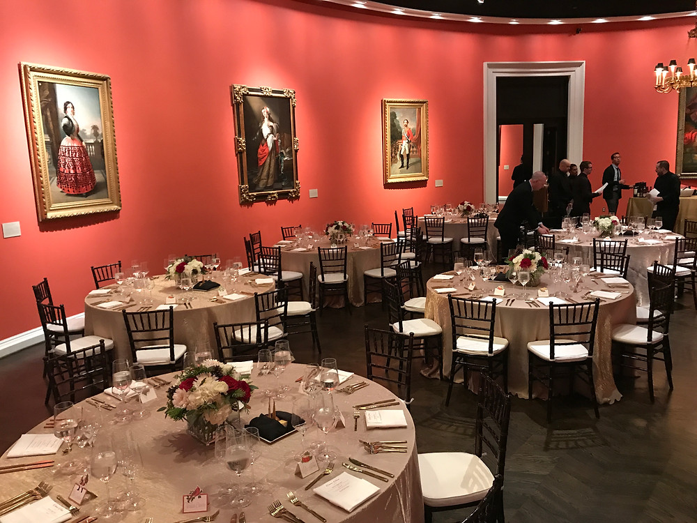 Dinner party at Meadows Museum