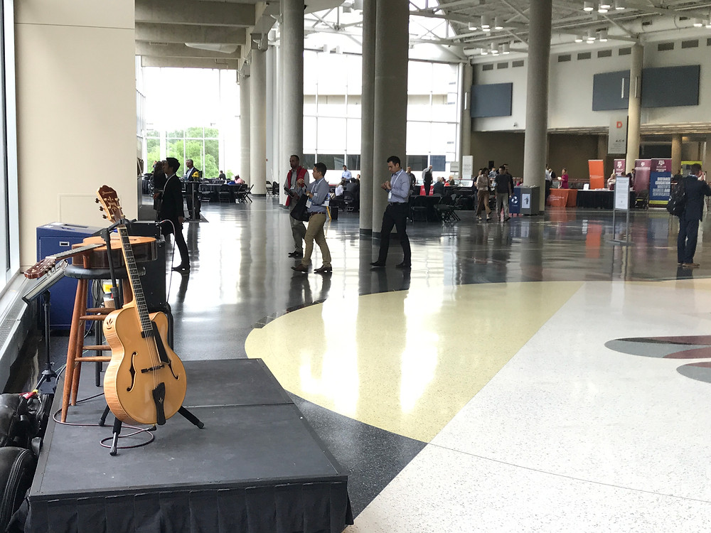 Guitar music at Dallas Convention Center