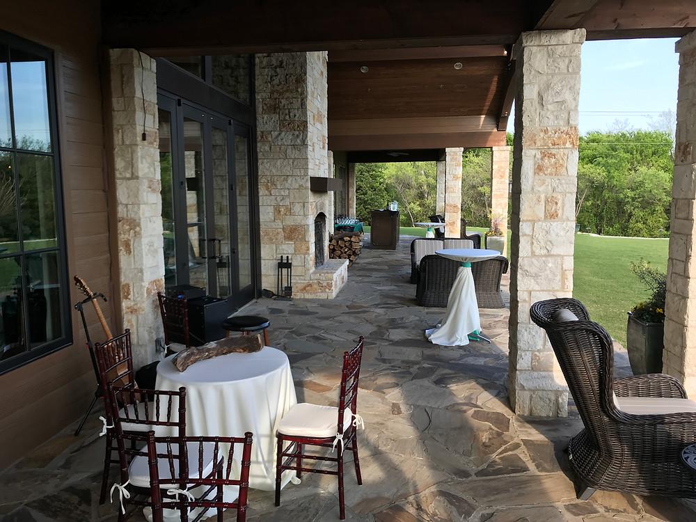The Laurel patio