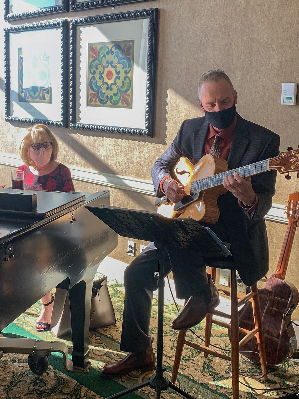 Guitar/piano duo at Ft. Worth Club brunch