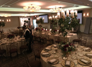 Beautiful setting for a Rehearsal Dinner