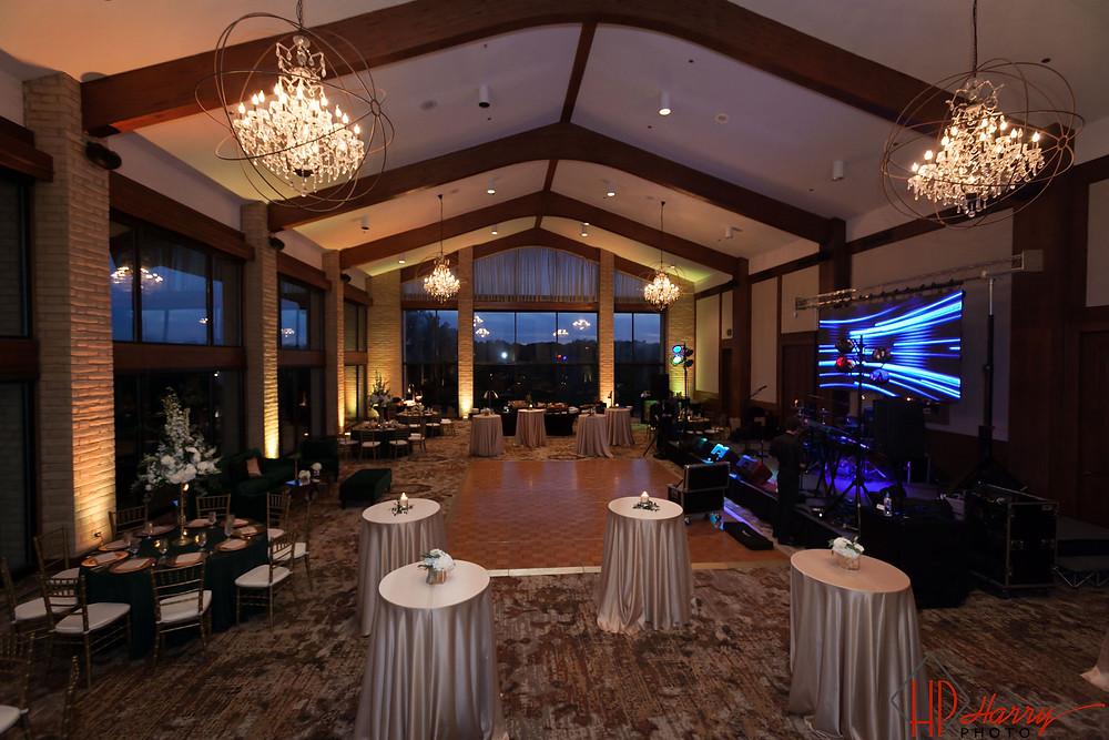 Refurbished ballroom at Las Colinas Country Club