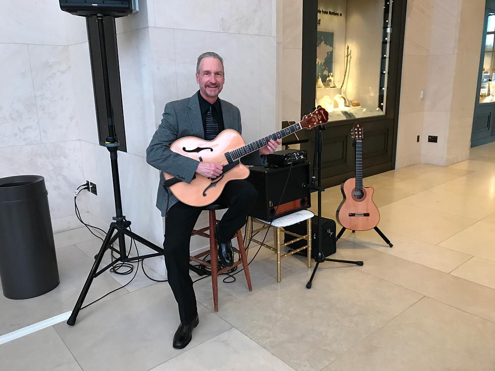 Guitar music at the Bush Library