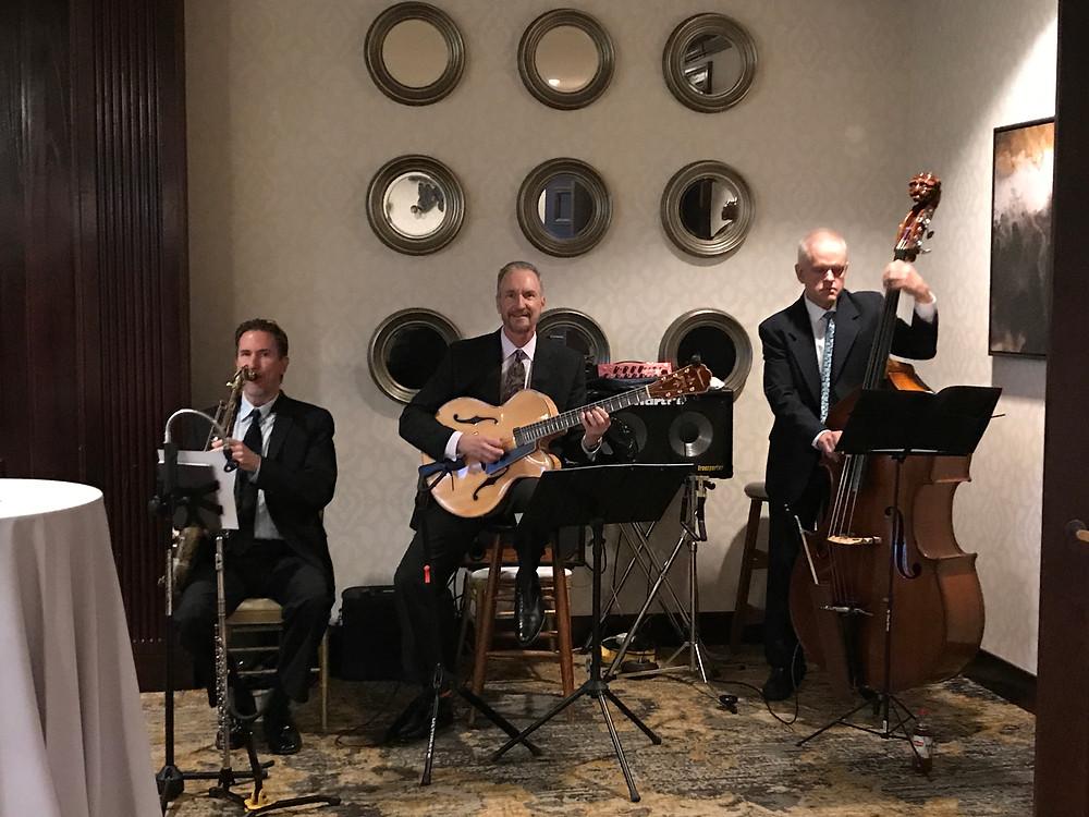 Wedding cocktail hour jazz trio