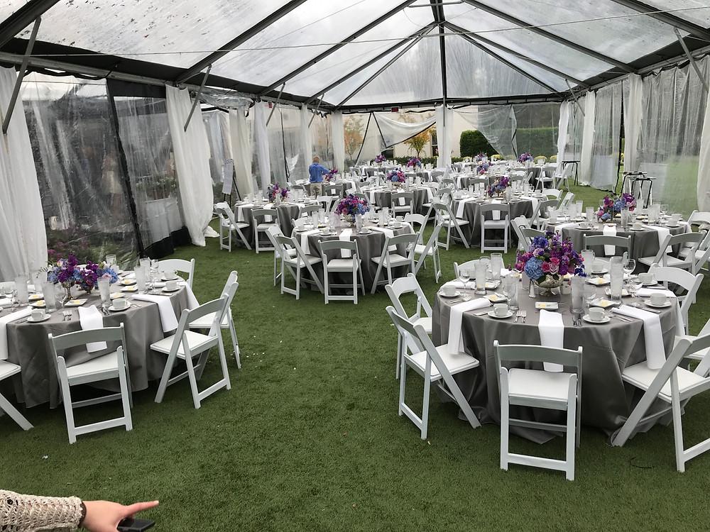 Dallas Arboretum tent reception