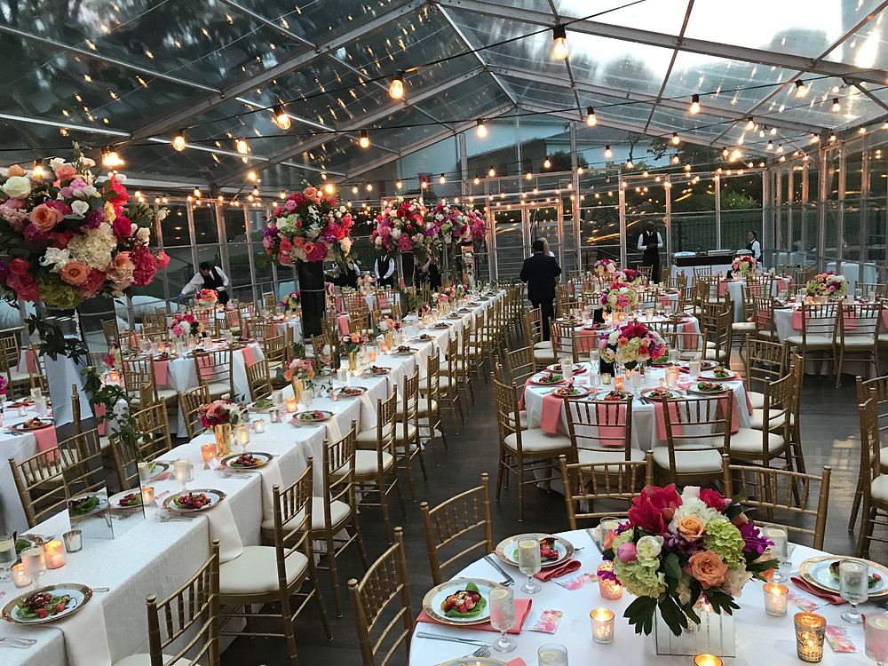Tent dinner at Arlington Hall