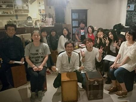 4/28カホンワークショップ名古屋レポート①ミキヒト