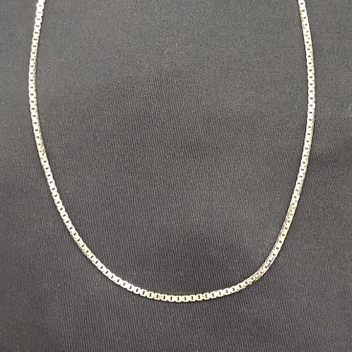"16"" Sterling silver box chain"