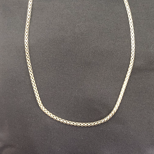 "18"" Sterling silver round box chain"