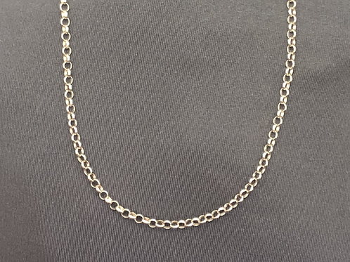 """20"""" Sterling silver rolo chain"""