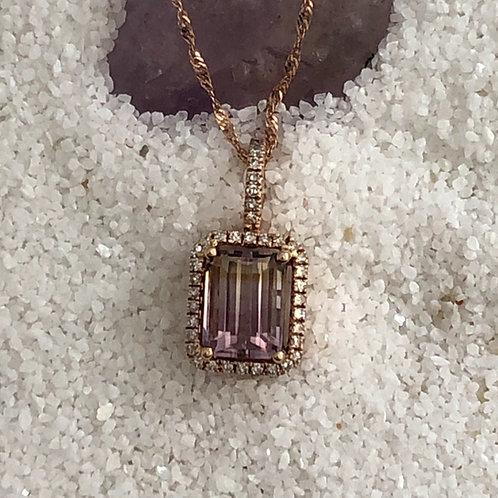 Ametrine & diamond pendant