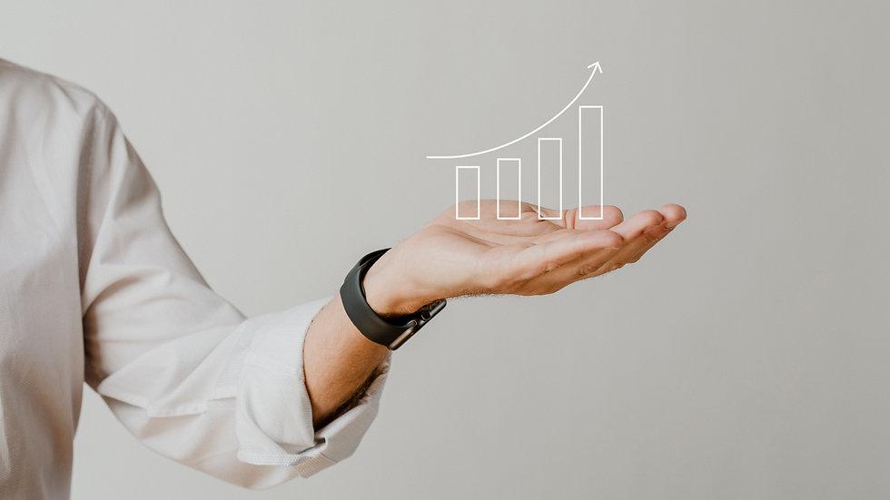 digital-increasing-bar-graph-with-busine