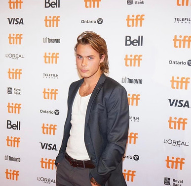 Alexandre Bourgeois on the red carpet for the 2019 TIFF premiere of Guest of Honour