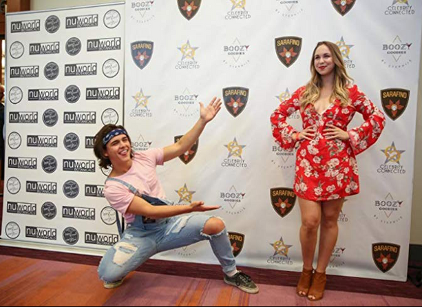Charlie Gillespie and Sofie Holland at the Celebrity Connected Gifting Suite for TIFF 2017