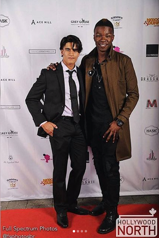 Amir Bageria and Richard Walters at the Hollywood North party for TIFF 2018