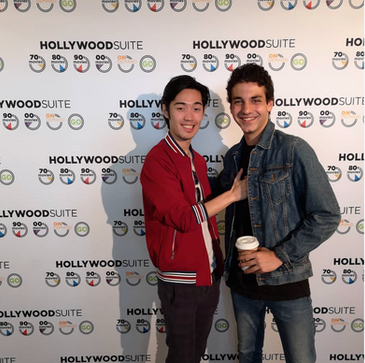 Andre Dae Kim and Ehren Kassam at the Hollywood Suite breakfast for TIFF 2018